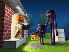 Un fan art #Minecraft sur la fête d'#Halloween Minecraft Posters, Minecraft Mobs, Minecraft Drawings, Minecraft Pictures, Minecraft Funny, Amazing Minecraft, How To Play Minecraft, Minecraft Fan Art, Minecraft Crafts