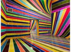 Hypnotic rainbow installation - Juxtapose Magazine