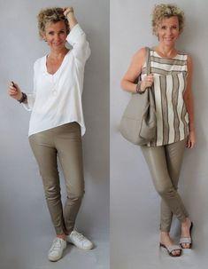 Moda anti-idade: Moda para senhoras - Chubby Tutorial and Ideas Over 50 Womens Fashion, 50 Fashion, Fashion Over, Fashion Looks, Fashion Tips, Latest African Fashion Dresses, Latest Fashion Trends, Look Office, Buy Clothes Online