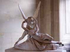 Cupid and Psyche by Antonio Canova in the Louvre Museum, Paris, France Italian Paintings, French Paintings, Winged Victory Of Samothrace, Louvre Museum, Art Museum, Eros And Psyche, Large Painting, Michelangelo, Art History