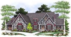 Stunning French Country House Plan - 89407AH thumb - 01