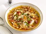 Chickpea Chicken Noodle Soup.. if you like Cilantro, you will LOVE this soup!