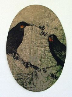 Alexis Neal, Koronga, relief etching on 300 x 250 mm paper, from an edition of 20, 2012