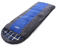 Aircee 20 Degree F Flannel Liner 4 Season Cold Weather Traveling Camping Hooded Sleeping Bag With Pillow (Blue). Portable, foldable and flexible, easy to pack. Great for traveling and camping. Fits alduts, Size:(74.8''+11.8'')X31.5'' , Size:(190+30)X80cm Weight:2.2kg (77.6oz). Good fabric stands up to years. Shell: 210T 100% nylon, Lining:100% cotton flannel, Filler:450g/m2 cotton fiber. Designed for cool weather.Extreme Temperature: 0 C/ 30 F. Comfortable Temperature: 5~15 C/ 41~60 F....