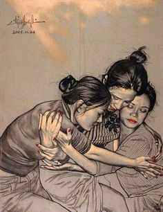 Sisters  by Zhong Biao
