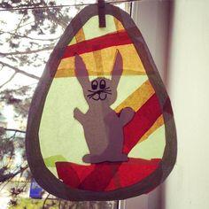 Velikonoční vajíčko formou vitráže.
