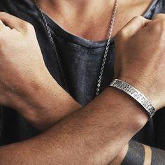 Carpe Diem Mens 925 Sterling Silver Bracelet