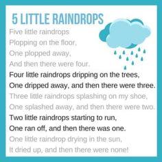 Weather Activities Preschool, Circle Time Activities, Preschool Songs, Weather Lesson Plans, Weather Lessons, Rhymes For Toddlers, Lesson Plans For Toddlers, Rain Rhymes, Weather Song