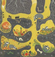 "livingnowisliving: "" Teruko Kanasugi Kanasugi saved to IllustrationBadger's home by Saara Katariina Söderlund "" Badger Illustration, Children's Book Illustration, Art Plastique, Elementary Art, Teaching Art, Art Lessons, Illustrators, Art For Kids, Art Projects"