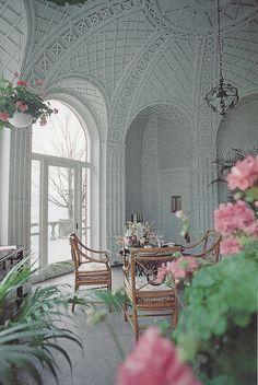 Brookby House estate of John Wood Blodgett Sr. East Grand Rapids, Michigan. Breakfast room