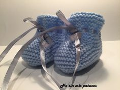 Children and Young Baby Knitting Patterns, Baby Booties Knitting Pattern, Knitted Booties, Knit Shoes, Crochet Baby, Knit Crochet, Bunny Slippers, Bebe Baby, Cross Stitch Baby