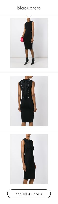 """""""black dress"""" by jofrebcn ❤ liked on Polyvore featuring dresses, dress's, black, round neck dress, knee high dresses, lace detail dress, slimming dresses and givenchy"""