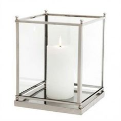 Shop the Eichholtz Industrial Loft Jennifer Silver and Glass Cube Hurricane and other Candleholders at Kathy Kuo Home Decor, Furniture, Glass Cube, Industrial Decor, Industrial Furniture, Furniture Decor, Industrial Livingroom, Industrial Interiors, Cool Furniture