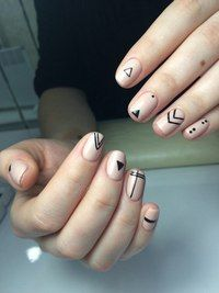 Uñas Hot Nails, Swag Nails, Hair And Nails, Stylish Nails, Trendy Nails, Vanessa Nails, Nail Polish Style, Nail Tattoo, Geometric Nail