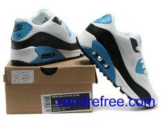 quality design 81d35 0f160 Vendre Pas Cher Homme Chaussures Nike Air Max 90 (couleur blanc,noir,bleu)  en ligne en France.