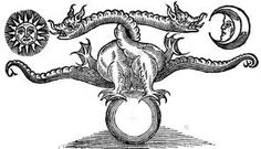 The third missing page of Ashmole 782 was two alchemical dragons, their tails intertwined. A rain of blood fell from their wounds, pooling in a basin, from which sprang dozens of naked, pale figures