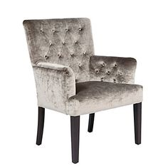 A chic seat for the head of the table. Z Gallerie's Lola Arm Chair in Pewter Gold, $299.00