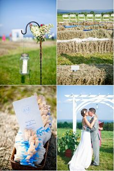 Farm wedding ceremony #weddingideas #weddingdecor #outdoorwedding #ceremony #farmwedding