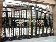 Luxury Villa Wrought Iro House Gate - China Wrought Iron Garden Gate;wrought metal villa entrance gate;decorative wrought iron house gate