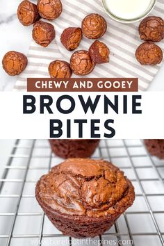 SERIOUSLY chewy and fudgy Mini Brownie Bites- The best homemade chocolate brownies made in a mini muffin pan! This easy brownie bite recipe is super chocolatey with crisp edges, crinkle top, and thick, chewy middle. They're the perfect size for snacking! Brownie Bites | Two Bite Brownies | Extra Chocolatey Brownie Bites | Mini Sweets | Muffin Pan Brownies Mini Brownie Bites, Brownie Bites Recipe, Mini Brownies, Chewy Brownies, Chocolate Brownies, Healthy Homemade Snacks, Homemade Desserts, Dessert Recipes, Cookie Recipes