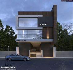 Office Small Home Facade Office Building Architecture, Building Exterior, Facade Architecture, Building Design, Bungalow House Design, House Front Design, Facade Design, Exterior Design, Stone House Plans