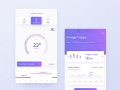 Smart Home App_Dark & Light designed by Yvonne Fung. Connect with them on Dribbble; the global community for designers and creative professionals. Mobile Ui Design, App Ui Design, Dashboard Design, Interface Design, Web Design Studio, Smart Home Technology, Ui Design Inspiration, Screen Design, Chat App