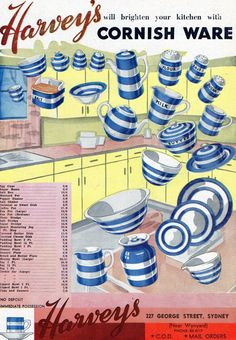 HARVEY'S | Cornish Ware: Advertisement     ✫ღ⊰n