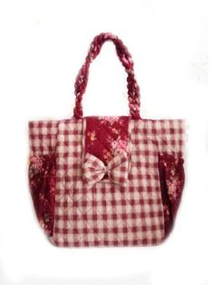 Red Roses Quilt Handbag 100% Cotton Purses Bags « Holiday Adds