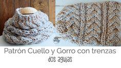 Cómo tejer un gorro o cuello con trenzas fácil y rápido en dos agujas: un patrón…