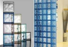 choose your color glass blocks, beautiful! Modern Bathroom Design, Bathroom Interior, Glass Blocks Wall, Glass Walls, Block Wall, Glass Brick, Blue Rooms, Bathroom Cleaning, Classic House