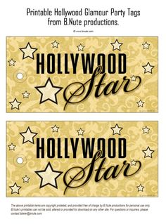 Hollywood Glamour Party: Invitations, Decorations, Art Activites, Games, and More