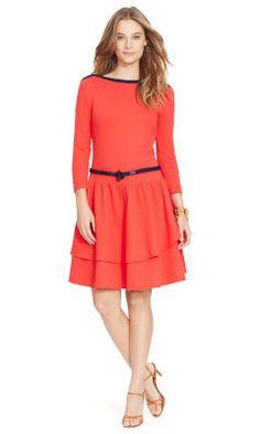 Ruffled Cotton Boatneck Dress - Lauren Jeans Co. Short Dresses - RalphLauren.com