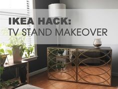 IKEA Hack: How To Makeover An IKEA TV Stand - YouTube