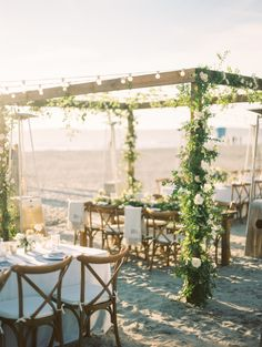 Dreamy beach reception: http://www.stylemepretty.com/california-weddings/coronado/2016/05/12/feel-the-sand-between-your-toes-with-this-beach-reception/ | Photography: Bryan N. Miller Photography - http://bmillerweddings.com/