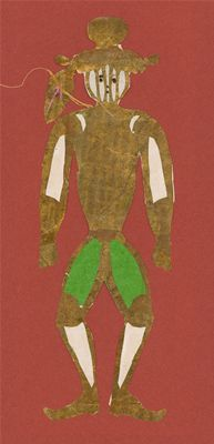 Man with visor. Christmas tree decoration. Hans Christian Andersen Drawings, Odense City Museums