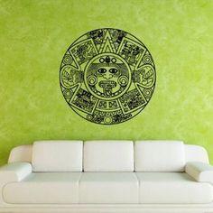 Wall Decal Art Decor Decals Sticker Aztecs Calendar Time Watch Buddhism India Indian Circle Tattoo Om Yoga (M180)