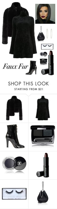 """""""Trendy in Faux Fur"""" by kotnourka ❤ liked on Polyvore featuring Pinko, E L L E R Y, Valentino, Beauty Is Life, Huda Beauty, Alexander Wang and Plukka"""
