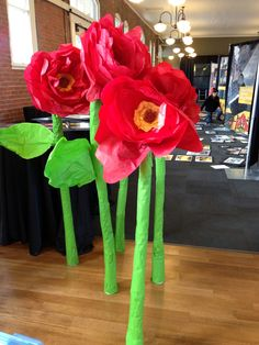 Giant poppies made for the 2013 Knoxville AAF ADDY Gala