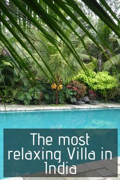 The Most relaxing Villa in India ǀ Villas in India ǀ Where to stay in India ǀ South India ǀ Amazing okaces to stay in Kerala ǀ Amazing places to stay in South India ǀ Where to stay in India ǀ Luxury indian villa