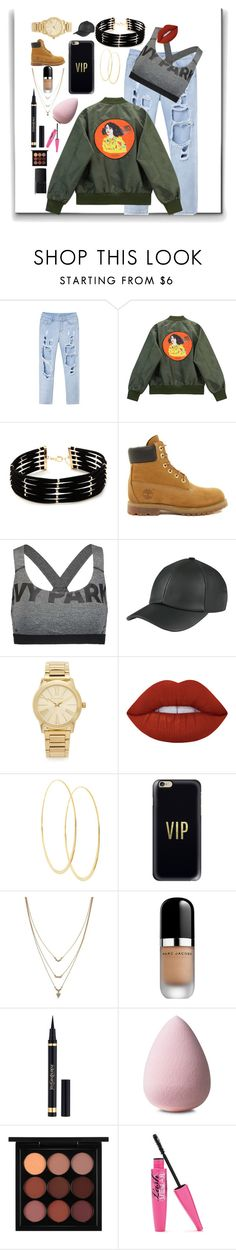 """LA Street"" by demixb on Polyvore featuring Chicnova Fashion, Forever 21, Timberland, Ivy Park, Michael Kors, Lime Crime, Lana, Casetify, Jessica Simpson and Marc Jacobs"