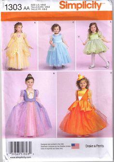 Patrón de traje de la princesa niño 1303 por CraftSupplyHouse