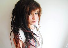 love the dreads mixed with hair