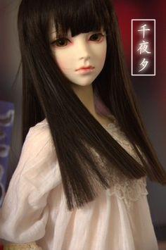 Cherry Castel 1 3 Girl Super Dollfie Size BJD Qianyexi Free Make Up Wig Eyes | eBay