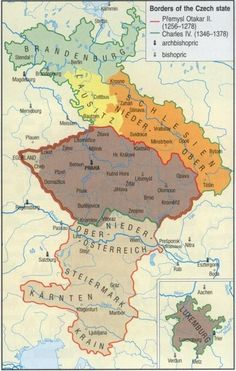"""""""Different"""" borders of the Czech State during rule of Přemysl Otakar II and Charles IV"""