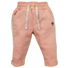 Ducky Beau - Sportliches Baby-Hose mit subtilen Details.  Marke: Ducky Beau Kategorie: HOSE / JEANS Farbe: Dusty Pink Material: 85% Baumwolle / 15% Polyester