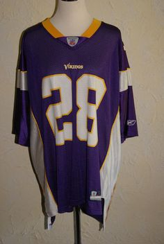 Minnesota Vikings # 28 Adrian Peterson Reebok NFL Equipment Size XXL #Reebok #MinnesotaVikings