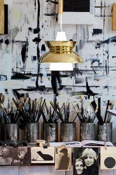 LOUIS POULSEN X TENKA GAMMELGAARD Louis Poulsen lamps presented in the beautiful home and studio of Tenka Gammelgaard. Photograph by Jacob Termansen.