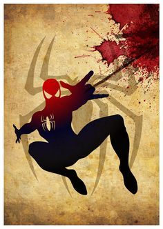 Vintage Superheroes Poster Set of 4 Posters for by MyGeekPosters