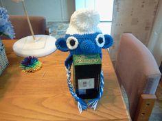 Crocheted smurf