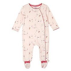 36e95ba6b442fc Baker by Ted Baker Babies light pink faux fur snowsuit- at Debenhams.com